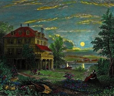 byron's villa deodati by edward francis finden 1833